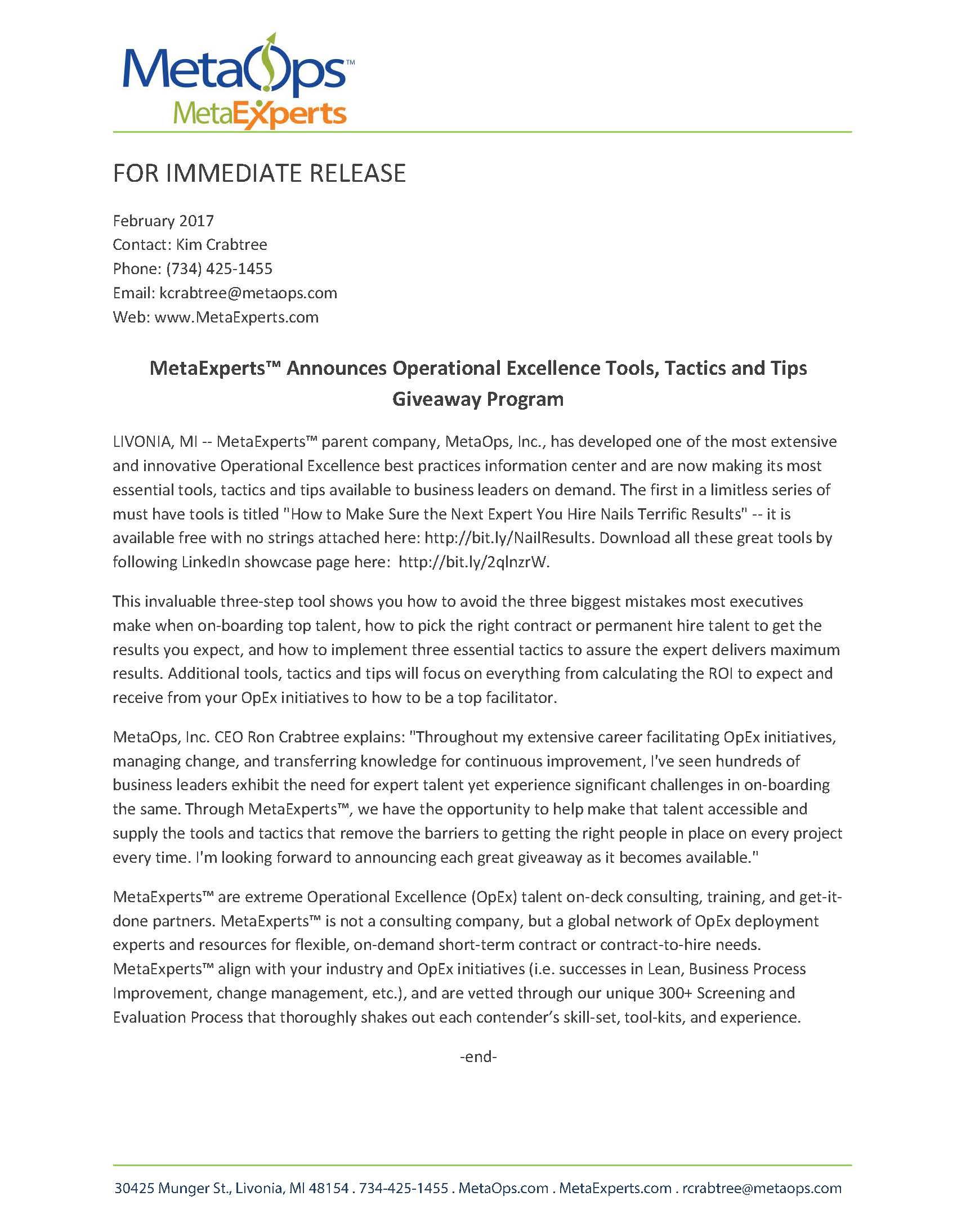 Lead Gen Giveaways Press Release