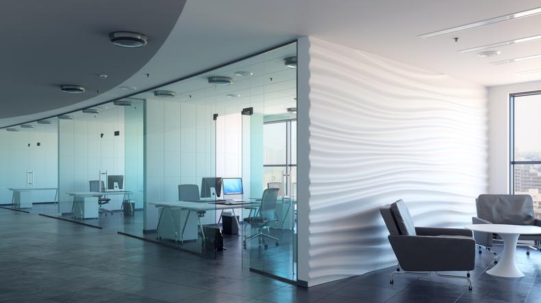 3d render office interior