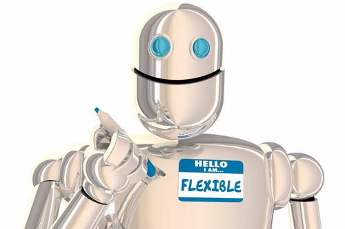 Flexible Robot Name Tag Hello Sticke 3d Illustration
