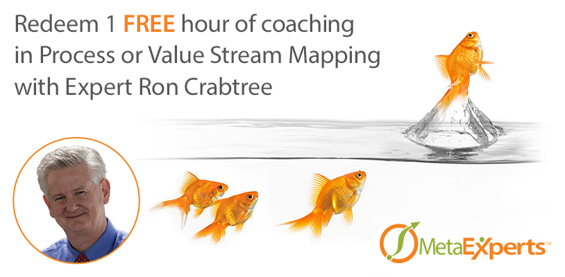 Free Hour of Coaching in Process or Value Stream Mapping with Expert Ron Crabtree
